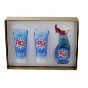 (L) MOSCHINO FRESH COUTURE 3.4 EDT SP + 3.4 B/L + 3.4 S/G + 0.30