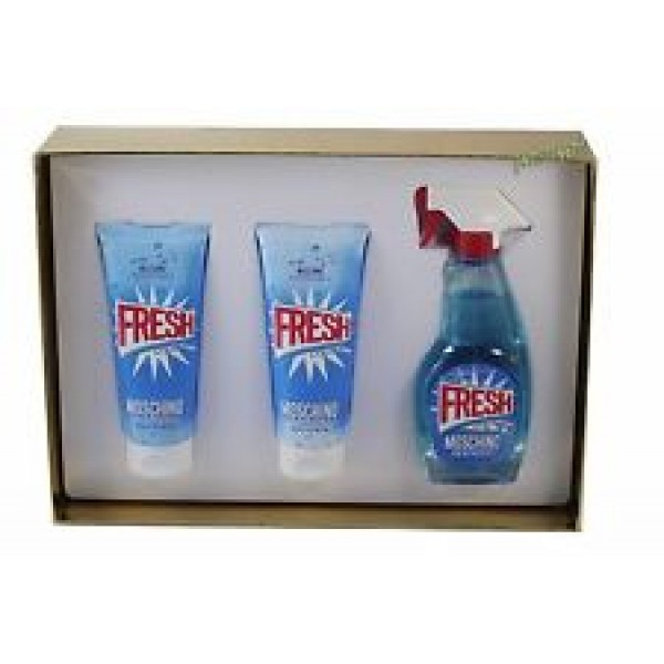 (L) MOSCHINO FRESH COUTURE 3.4 EDT SP + 3.4 B/L + 3.4 S/G + RLLRBLL