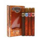(M) CUBA GOLD .35 EDT SP + BLUE .35 + ORANGE .35 + RED .35