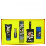 (M) ED HARDY LOVE & LUCK 3.4 EDT SP + 3.0 S/G + 2.75 DT + MINI + TAG