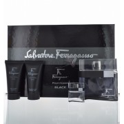 (M) SALVATORE FERRAGAMO F BLACK 3.4 EDT SP + 2.5 A/S + 2.5 S/G