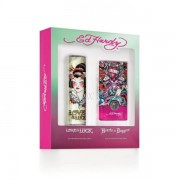 (L) ED HARDY LOVE AND LUCK 3.4 EDT SP + HEARTS & DAGGERS 3.4 EDP SP
