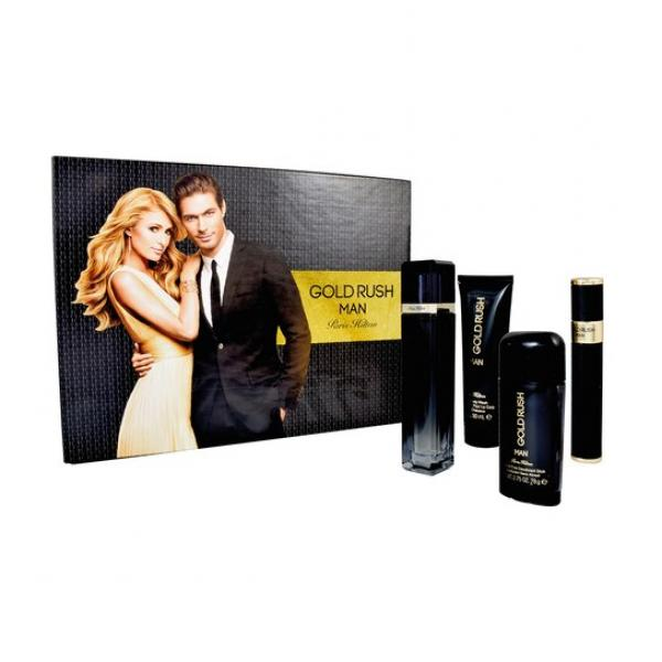 (M) PARIS HILTON GOLD RUSH 3.4 EDP SP + 2.75 DT + 3.0 S/G + .34