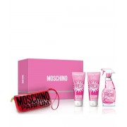 (L) MOSCHINO FRESH COUTURE PINK 3.4 EDT SP + 3.4 B/L + 3.4 S/G + MANI SET