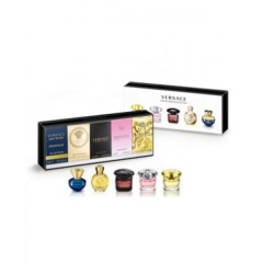 (L) VERSACE MINI COLLECTION .16 DYLAN BLUE + EROS FEMME + BRIGHT C + CRYSTAL N + YELLOW D