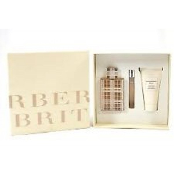 (L) BURBERRY BRIT 3.4 EDP SP + 2.6 B/L + 0.25 EDP