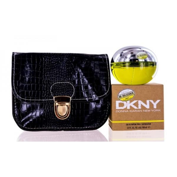 (L) DKNY BE DELICIOUS 3.4 EDP SP + BAG
