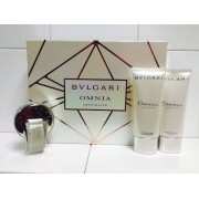 (L) BVLGARI OMNIA CRYSTALLINE 2.2 EDT SP + 2.5 B/L + 2.6 SOAP + BAG