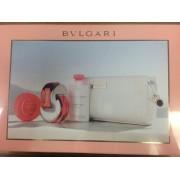 (L) BVLGARI OMNIA CORAL 2.2 EDT SP + 2.5 B/L+ .26 SOAP + GLD BAG